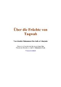 über die früchte von Taqwa