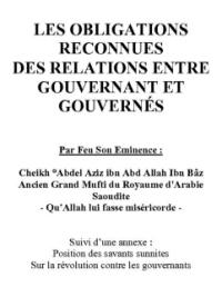 LES OBLIGATIONS RECONNUES DES RELATIONS ENTRE GOUVERNANT ET GOUVERNÉS