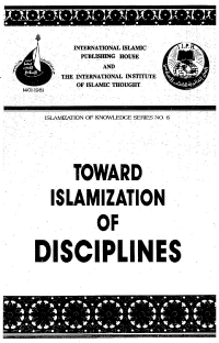 Toward Islamization of Disciplines
