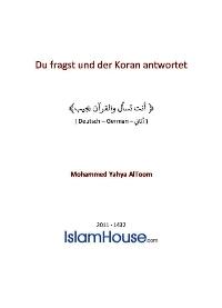 Du fragst und der Koran antwortet