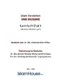Islam Verstehen – UND MUSLIME