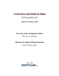 Verbrechen und Strafe im Islam