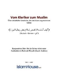 Vom Kleriker zum Muslim – Über christliche Geistliche, die den Islam angenommen haben