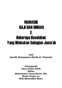 Manasik Haji Dan Umrah