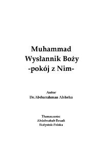 Muhammad Wysłannik Boży -pokój z Nim