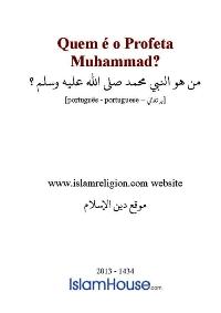 Quem é o Profeta Muhammad?