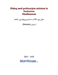 Dialog med profesorjem ateistom in študentom Muslimanom
