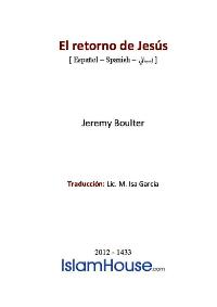 El retorno de Jesús