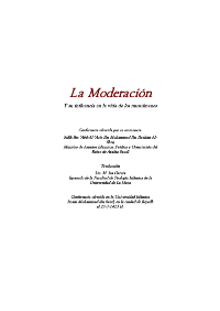 La moderacion y su influencia en la vida de los musulmanes