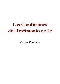 Las condiciones del testimonio de fe