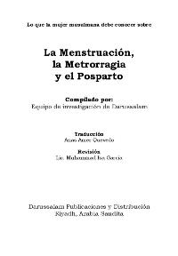 La Menstruación, la Metrorragia y el Posparto