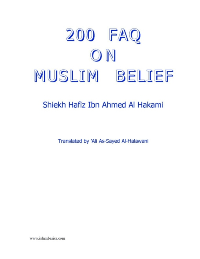 200 Faqs On Muslim Belief
