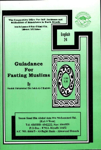 Guiadance For Fasting Muslims