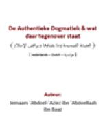 De Authentieke Dogmatiek & wat daar tegenover staat