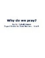 Why do we pray?