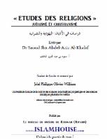 Etudes des religions : Judaïsme et Christianisme