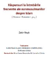 Răspunsuri la întrebările frecvente ale nonmusulmanilor despre Islam