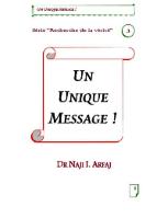 Un unique message
