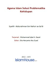 Agama Islam Solusi Problematika Kehidupan