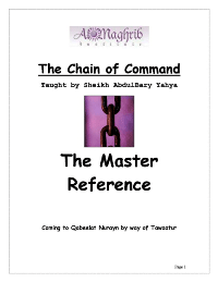 Chain of Command – Sciences of Hadeeth – Mustalah ul Hadeeth