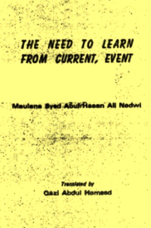 Book Cover: The Need to learn from Current Event