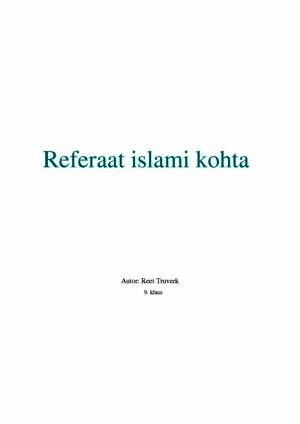 Referaat islami kohta