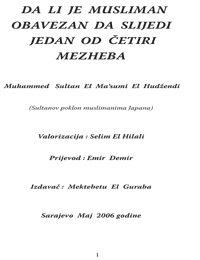Dali je musliman obavezan slijediti jedan od mezheba?