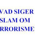 HVAD SIGER ISLAM OM TERRORISME?