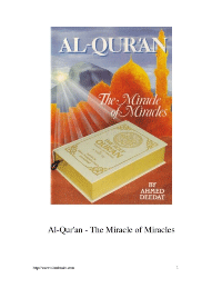 Al-Qur'an – The Miracle of Miracles
