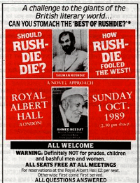 """CAN YOU STOMACH THE BEST OF RUSHDIE? """"The Satanic Verses"""" unexpurgated"""