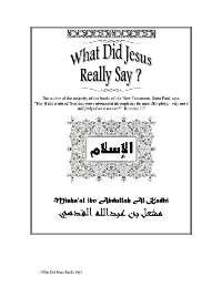 What did Jesus really Say?