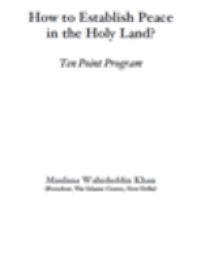 How to Establish Peace in the Holy Land?