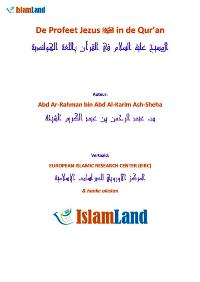 De Profeet Jezus in de Qur'an