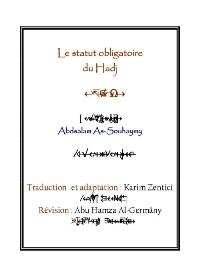 Le statut obligatoire du Hadj