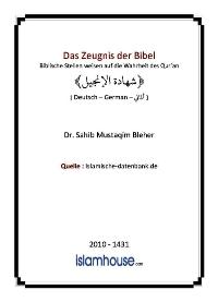 Das Zeugnis der Bibel