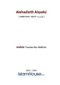 Alahadieth Alqodsi