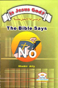 Is Jesus God?  The Bible says No