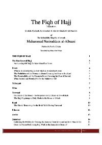 The Fiqh Of Hajj