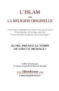 L'islam ou la religion originelle