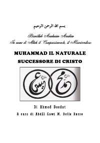 Muhammad il naturale successore di Cristo