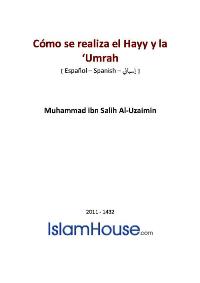 Cómo se realiza el Hayy y la 'Umrah