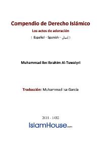 Compendio de Derecho Islámico [ Los actos de adoración ]