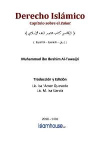 Derecho Islámico – Capítulo sobre el Zakat