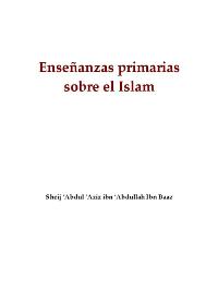 Ensenanzas primarias sobre el Islam