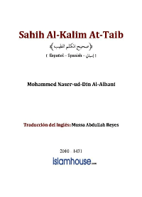 Sahih Al-Kalim At-Taib