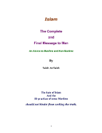 Islam The Complete and Final Message to Man