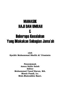 Manasik Haji dan Umroh