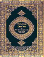 nghĩa và nội dung Thiên Kinh Qur'an bằng Việt ngữ