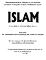 Islam Awọn ipilẹ rẹ ati awọn ipilẹsẹ ẹkọ rẹ