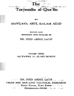 THE TARJUMAN AL-QUR'AN V3